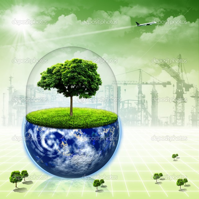 Save the Earth. Abstract environmental backgrounds for your desi
