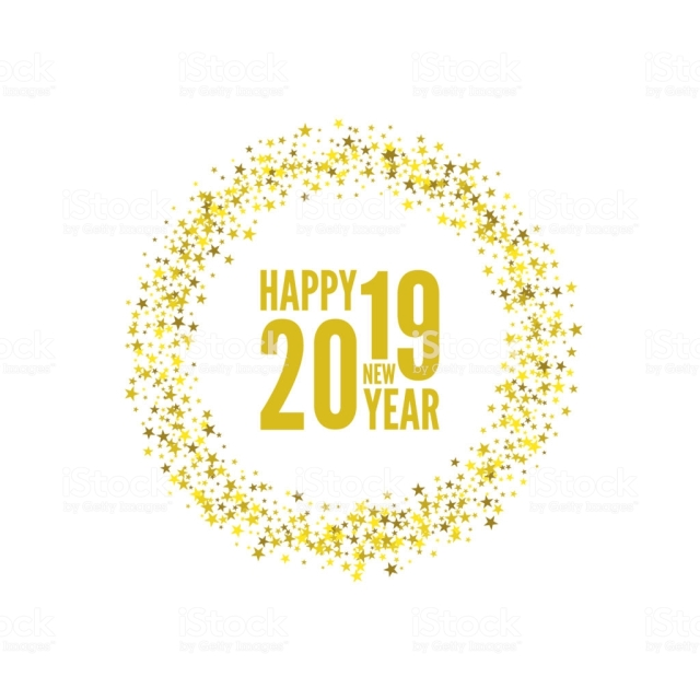 Creative happy new year 2019 design card. Vector illustration.
